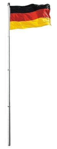 Spetebo Aluminium Fahnenmast 6,2 Meter inkl. Bodenhülse und Deutschlandfahne