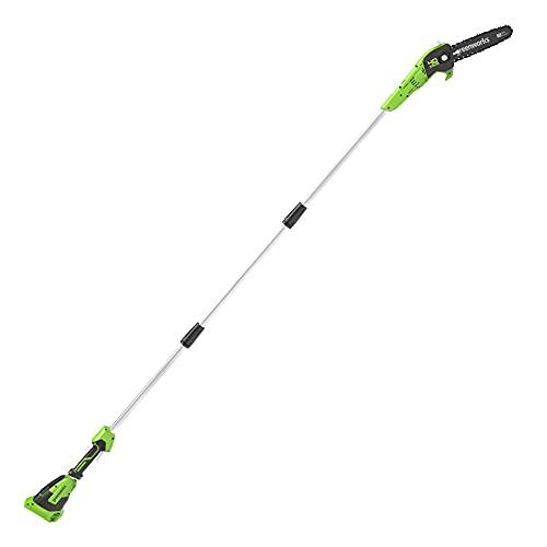 Greenworks 40 V 20 cm Sega ad Asta, Velocit Catena 9,8 m/s, Lunghezza Fino a 2,8 m (senza Batteria e Caricabatteria)
