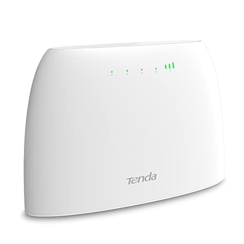 Tenda 4G03 Enrutador Wi-Fi 4G LTE 300 Mbps, Banda Inalámbrica de 2.4 GHz, Control Parental, Monitoreo del Tráfico de Datos, Puerto LAN / WAN, Con Ranura para Tarjeta SIM, Acceso a Wi-Fi hasta 32 Dispositivos