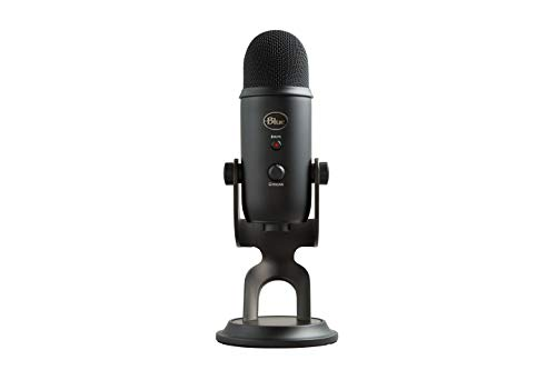 Blue Yeti USB Microphone for PC & Mac, Podcast, Gaming, Streaming and Recording Microphone, with Blue VO!CE effects, Adjustable Stand, Plug and Play – Blackout