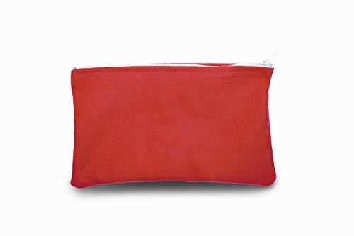 Astuccio Portapenne per Studenti, Astuccio Scuola e Ufficio, Astuccio Busta matite e cancelleria con cerniera, Astuccio Grande Multicolore. Colore Rosso.