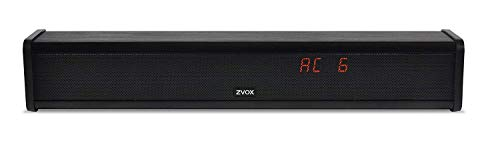 AccuVoice AV203 Sound Bar TV Speaker with Hearing Aid Technology, Six Levels of Voice Boost - 30-Day Home Trial (Black)