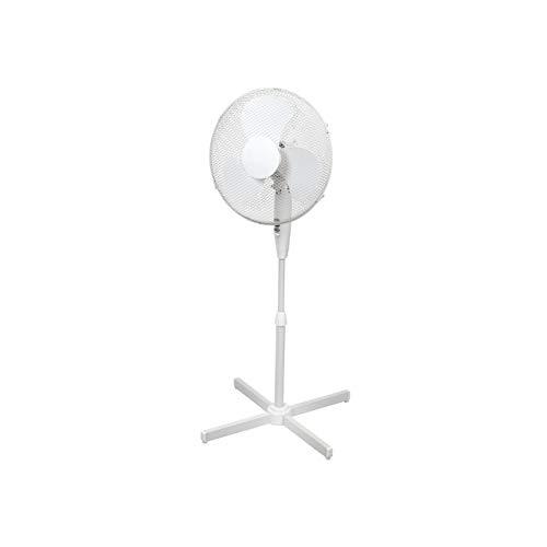 ito electronics ito Standventilator 40 cm Durchmesser weiß-oszillierend + 3 Geschwindigkeiten einstellbare Höhe/Verstellbarer Neigungswinkel, 40 x 14 x 125 cm