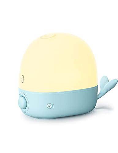 Humidifiers for Babies, TaoTronics 2.5L Cool Mist Humidifier Essential Oil Diffuser with Warm Night Light for Bedroom Nursery, BPA-Free, 26 dB Whisper Quiet, Easy to Clean, Waterless Auto Shut-off