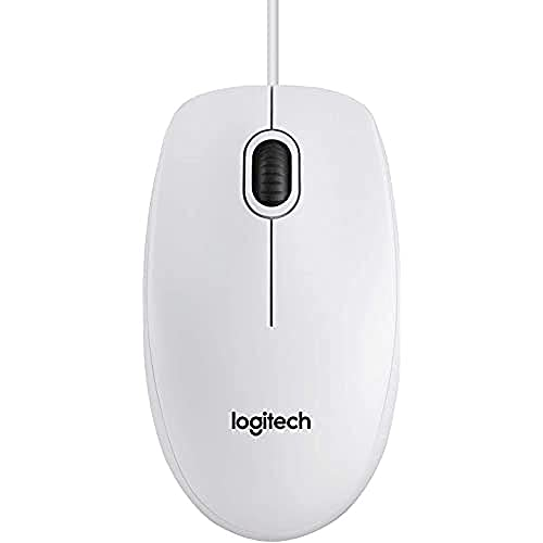 Logitech B100 - Ratón óptico, Color Blanco