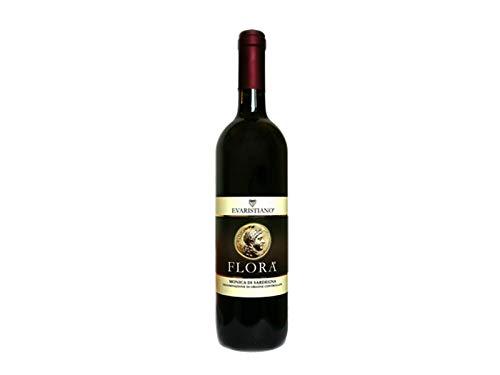 6 x 0.75 l - Flora. Monica di Sardegna DOC, Vino rosso certificato biologico. Prodotto dalla Cantina Vini Evaristiano