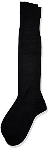 POMPEA Scozia Calze al ginocchio, Nero (Nero 0071), 44/45 (Taglia produttore:12/12.5) (Pacco da 6) Uomo