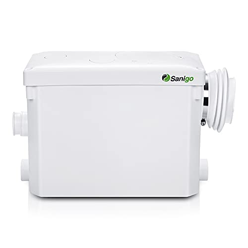 Sanigo SANI-P420i Broyeur Sanitaire pour l'évacuation Des Eaux Usées WC, Douche, Lavabo, Machine A Laver, Lave-Vaisselle