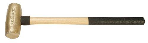 American Hammer AM10BRWG Sledge Hammer 26' Brass/Wood, 6.25' Height, 2.75' Width, 26' Length