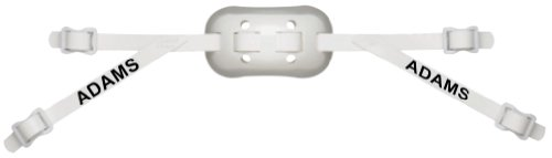 Adams USA GEL-25-4S 4-Point Low Football Chin Strap with Sewn Straps, White