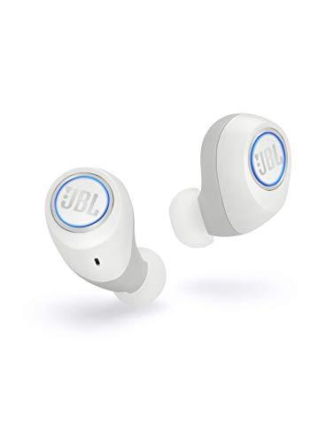 JBL Free X In Ear Bluetooth Kopfhörer in Weiß – Wireless Headphones mit smarter Ladestation – Musik Streaming bis zu 24 Stunden