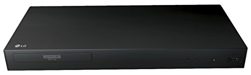 2017 LG 4K Ultra HD 3D Blu-ray Player with Remote Control, HDR Compatibility, Upconvert DVDs, Ethernet, HDMI, USB Port, Black