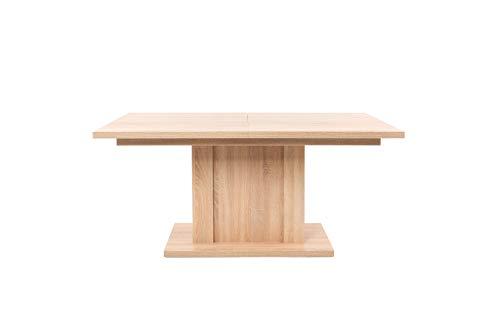 AVANTI TRENDSTORE - Agata - Tavolo da Pranzo allungabile Fino a 215 cm, in Legno Laminato di Colore Quercia Sonoma. Dimensioni: Lap 160-215x75x90cm
