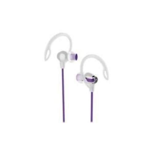 iHome iB21 Water-resistant 2-in-1 Sport Earbuds - Purple