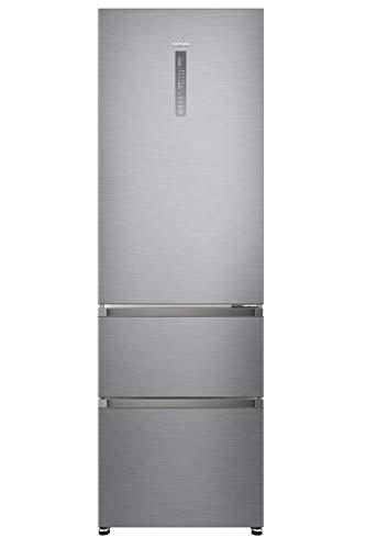 Haier A3FE735CGJE frigorifero con congelatore Libera installazione Acciaio inossidabile 330 L A++