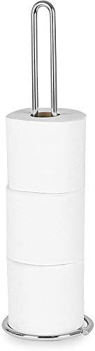 Spectrum Diversified Euro Tissue Reserve, Paper Toilet Holder, Holds Regular & Jumbo Rolls, Modern Bathroom...