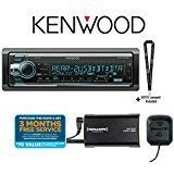 Kenwood Excelon KDC-X502 in-Dash CD Receiver with Built in Bluetooth with SiriusXM Tuner and Antenna Included and a SOTS Lanyard (Renewed)