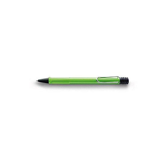 LAMY safari Kugelschreiber 213 – Moderner Kuli in der Farbe Grün mit Griffmulden, verchromtem Metallclip und zeitlosem Design – Mit Großraummine – Strichbreite M