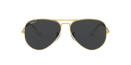 Ray-Ban RB3025 Classic Aviator Sunglasses, Legend Gold/Black...