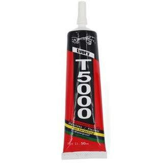 Ekon T5000 Multipurpose Transparent Adhesive Glue Sealant Waterproof Glue for DIY, Fabric, Screen Repair, Mobile Phone, Jewelry, Resin Crafts, Art and Craft, etc. (50ml) (Milky Blue)
