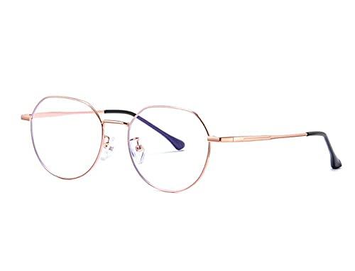 DELUX-X Lunette de vue spécial écrans - anti lumière bleue et anti radiations -Anti Fatigue oculaire pour Homme Femme Filtre PC, Jeux vidéo, Tablette, Gaming-OR- (OR)