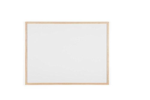 Bi-Office MP06001010 Budget - Lavagna con Cornice In Legno, 800 x 600 mm, Bianco