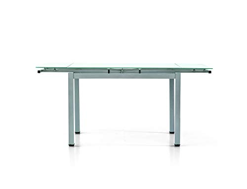 Fashion Commerce FC607V Tavolo, Metallo, Grigio, 110 x 70 x 76 cm