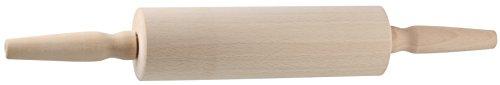 Fackelmann Teigroller PATISSERIE, Nudelholz als Backzubehör, Backrolle aus Holz mit Kugellager (Farbe: Braun), Menge: 1 Stück