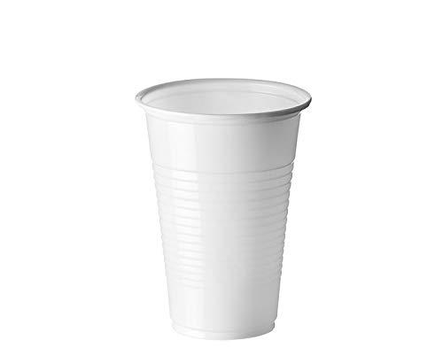Sumicel Vaso plástico de Polipropileno en Color Blanco, 220