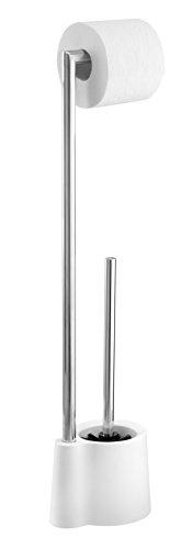 WENKO 22989100 Stand WC-Garnitur Avola - WC-Bürstenhalter, 13 x 70 x 16 cm, weiß