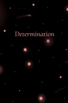 """Determination: Pink Outer Space Journal - 100 page college ruled notebook - 6"""" x 9"""" - for taking school notes, journaling, writing song lyrics, drawing, etc."""