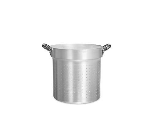 Pentole Agnelli ALMA17328 Colapasta Cilindrico con Maniglie, Alluminio, 28 cm