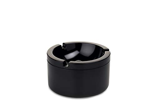 Rosti Mepal - Cenicero con Tapa antiolores (100% melamina), Color Negro