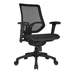 WorkPro 1000 Series Mesh Mid-Back Task Chair, Black