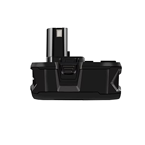 HWAZON Replacement Battery for Ryobi Power Inflator,Drill Driver,Chainsaw,Wet/Dry Vacuum and Blower,Hedge Trimmer,Leaf Blower,Glue Gun,Crown Stapler,Jigsaw,one+ (Plus),18V,5.0Ah,Lithium+,Fuel Gage