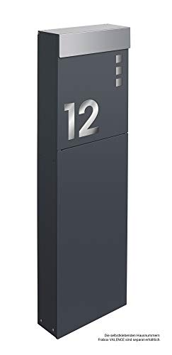 Frabox® Standbriefkasten NAMUR anthrazitgrau RAL 7016 & Edelstahl – Qualität Made in Germany! - 4