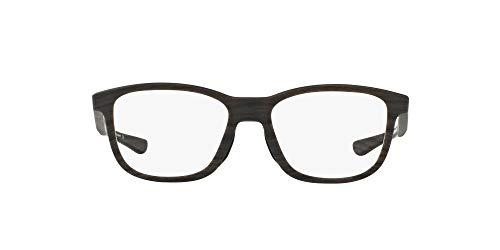 Oakley OX8106 Cross Step Round Eyeglass Frames Non Polarized Prescription, Matte Woodgrain/Demo Lens, 50 mm