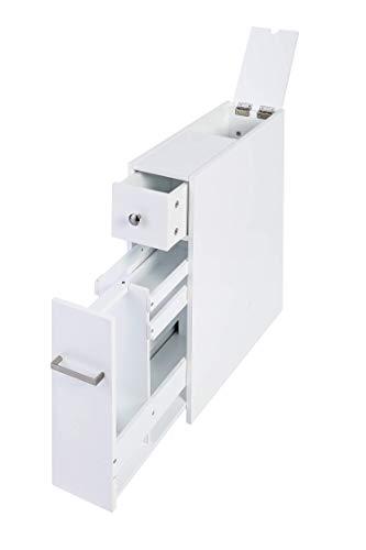 Spirich Home Slim Bathroom Storage Cabinet, Free Standing Toilet...