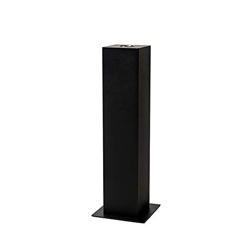 Brantley Swiss Design Outdoor Slim Tower: Free Standing bioethanol Fireplace with a 0.7L Single Layer 304 Stainless Steel Burner and a Control Tool