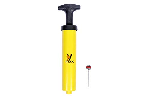 V FOX Football Pump (Hand Pump) Yellow