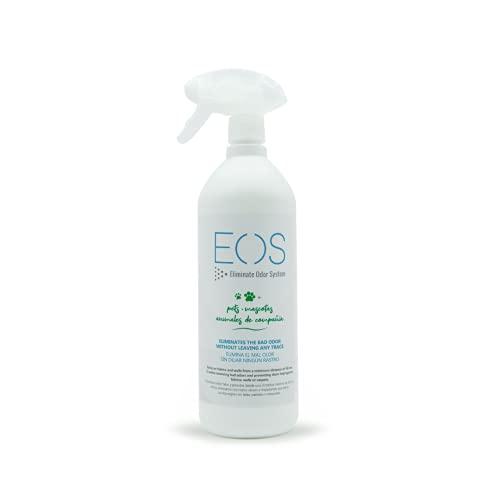 EOS (1 litro) Elimina olores de Mascotas al instante. Anti olor orines de Perros, Gatos... Aplicar en sofás, arenero, cesped, Coche... Detergente enzimatico perros. Repelente de micciones gatos.