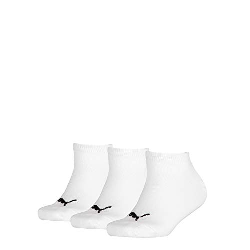PUMA Invisible 3p Sport, Bianco (White 300), 0-3 Mesi (Taglia Produttore: 27/30) (Pacco da 3) Bambino