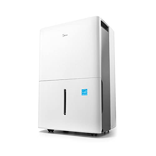 Midea 3000 Sq. Ft. Energy Star Certified Dehumidifier with Reusable Air Filter 35 Pint 2019 DOE (Previously 50 Pint) - Ideal For Basements, Large Rooms and Bathrooms (White)