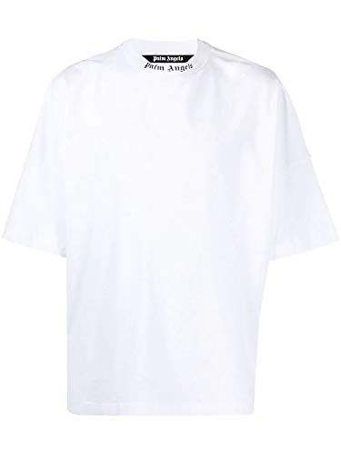 PALM ANGELS Luxury Fashion Uomo PMAA002S21JER0040132 Bianco Cotone T-Shirt | Ss21