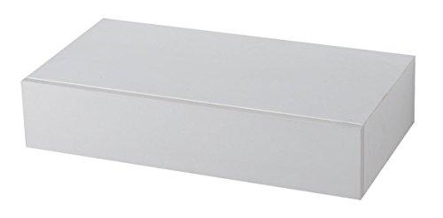 King Home M1106047/B Mensola Tamburata con Cassetto in MDF, Bianco, 48X25X10H