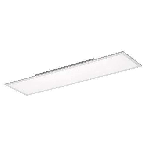LED Panel, 120x30, 38 Watt, Deckenleuchte, dimmbar + Fernbedienung, Innenraum-Leuchte, flach + platzsparend, Büroleuchte, Warmweiß-Kaltweiß, 4000 Kelvin