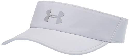 Under Armour Adult Run Shadow Visor , Halo Gray (14)/Silver Reflective , One Size Fits All