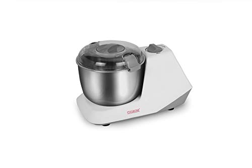 Clearline 650 Watts Electric Dough Kneader with Stainless Steel Bowl, (Silver)