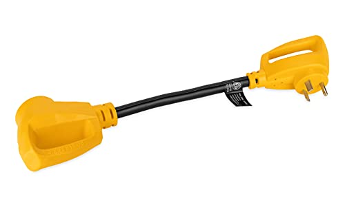 Camco RV Dogbone Electrical Adapter With Easy PowerGrip Handle,...