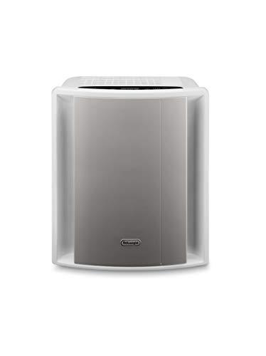 De'Longhi Luftreiniger AC230 – saubere Luft für Allergiker & Raucher, entfernt Pollen, Staub und Gerüche, 5-stufiges Filtersystem, für Räume bis 80 m³, Timer-Funktion, silber